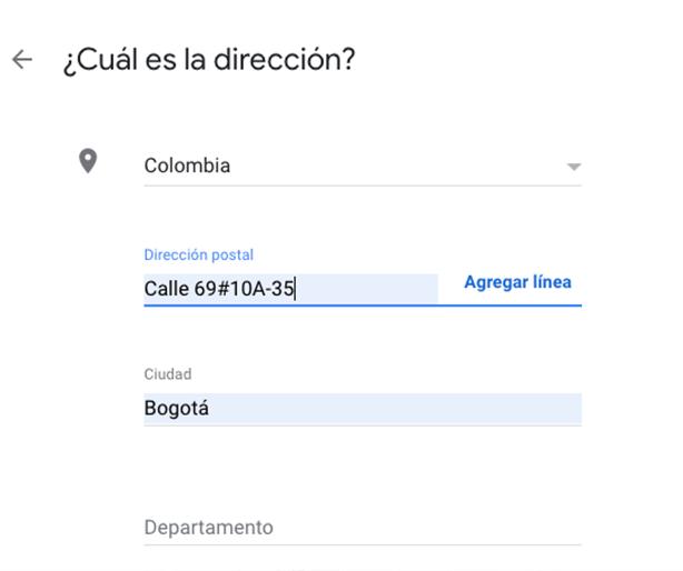 Añadir la dirección de mi comercio a Google Maps