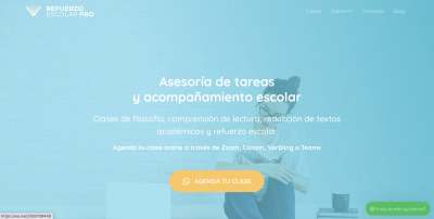 Wordpress Astra theme para web de refuerzo escolar