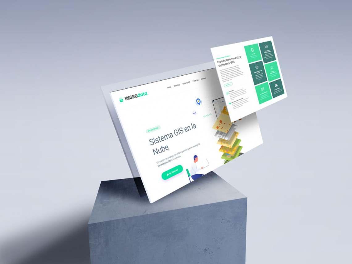 Logotipo y diseño web freelance para empresa de servicios en la nube