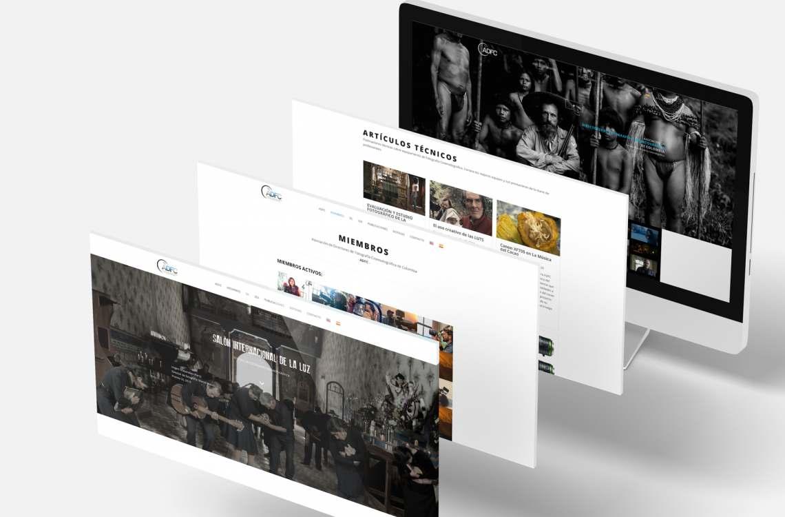 Diseño web freelance para asociación de fotógrafos